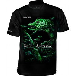 Tričko Dragon HellsAnglers clima dry šťuka