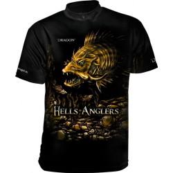 Tričko Dragon HellsAnglers clima dry zubáč