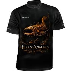 Tričko Dragon HellsAnglers clima dry sumec