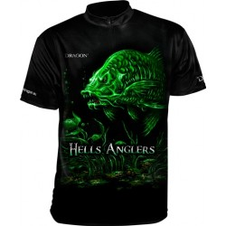 Tričko Dragon HellsAnglers clima dry kapor