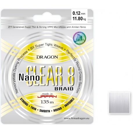 Šnúra Dragon Nano Clear 8, /135m/